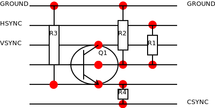 DVI to SCART breadboard diagram